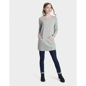 Joules Roya Marled Gray Diamond Tunic Dress Size 2